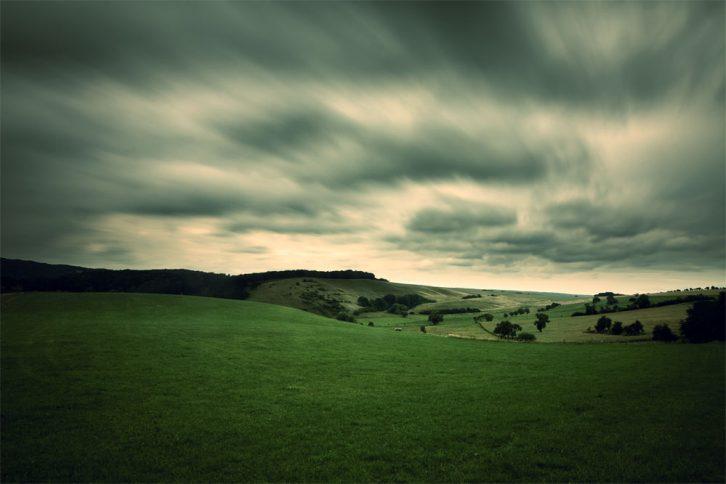 Langzeitbelichtung von Wolken
