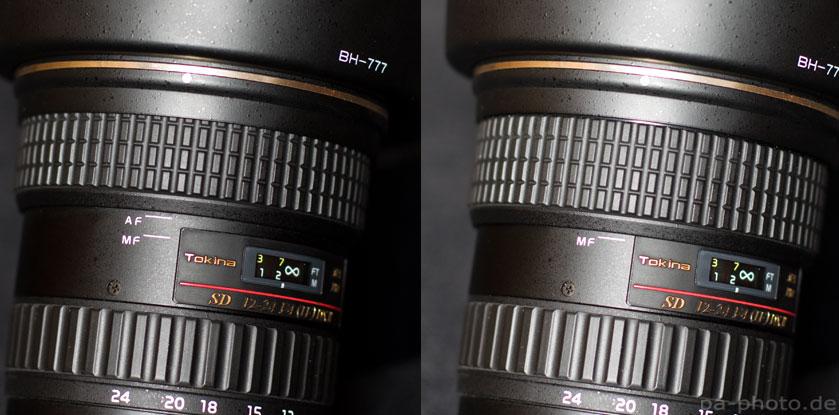 Wechsel zwischen Autofokus und manuellem Fokus beim Tokina 12-24mm f/4
