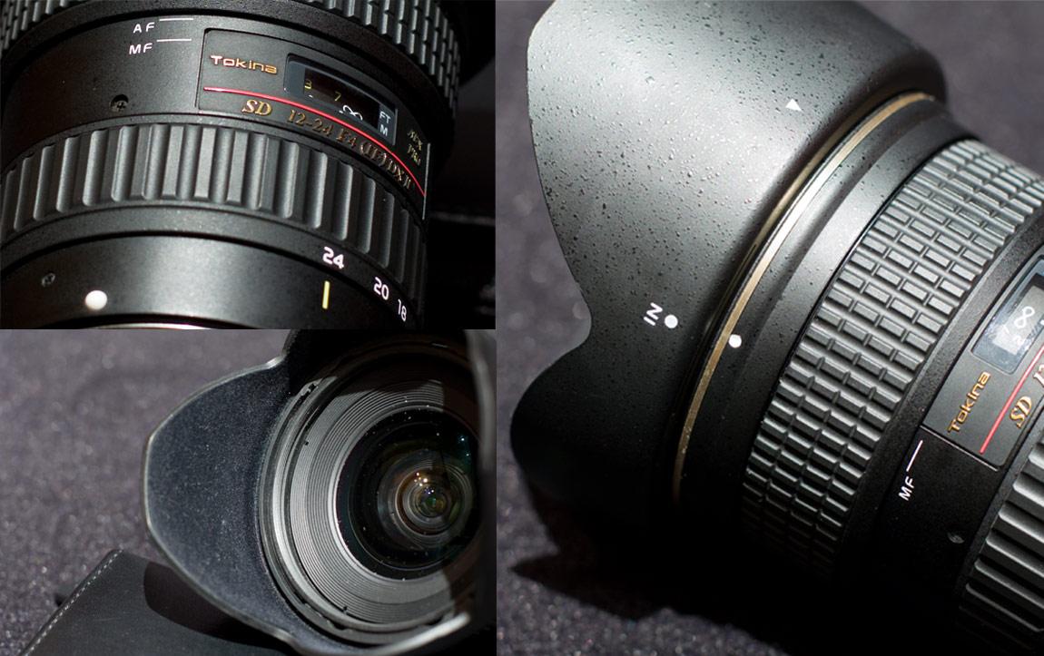 Ansichten des getesteten Tokina AT-X 12-24mm f/4 Pro DX II