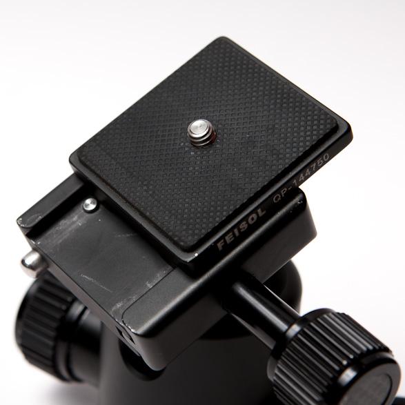 Feisol CB-40D Stativkopf mit Feisol QP-144750 Kupplungsplatte