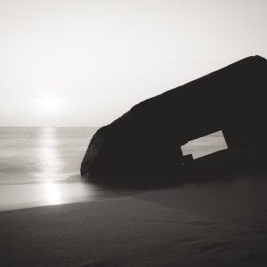 Gegenlichtaufnahme am Meer