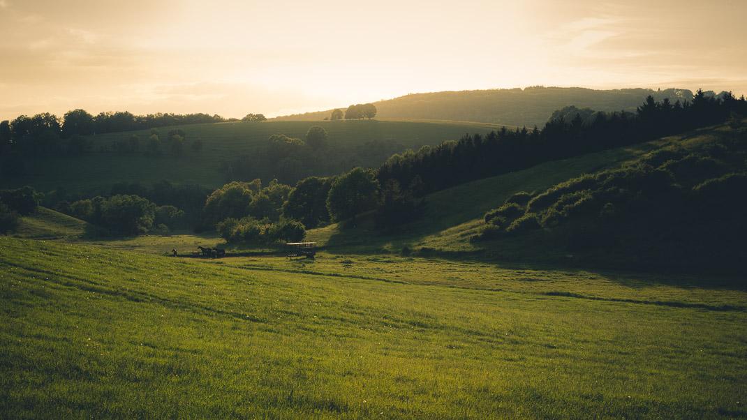 Landschaftsaufnahme im Kamera Modus Av